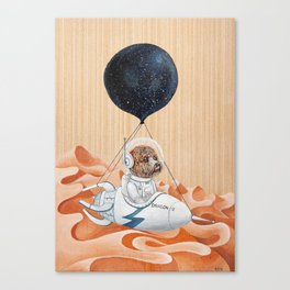 Poodle dog - Mission to Mars - Spacex - Space dog Canvas Print
