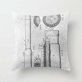 Separation staged rocket Throw Pillow