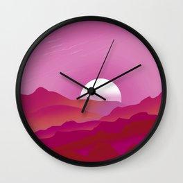 Lesbian Pride Sunrise Landscape Wall Clock