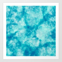 Cute Blue abstract paint Art Print