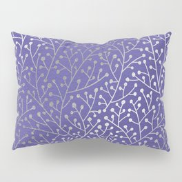 Periwinkle Berry Branches Pillow Sham