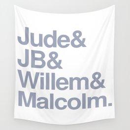 Jude & JB & Willem & Malcolm. Wall Tapestry
