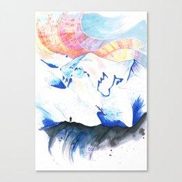 Mont Blanc Sunset Canvas Print