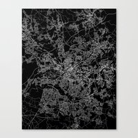 manchester Canvas Prints featuring Manchester  by Line Line Lines
