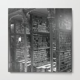 A Book Lover's Dream - Cast-iron Book Alcoves of Old Cincinnati Public Library Metal Print