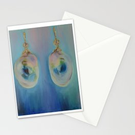 Vintage South Sea Pearl Earrings Stationery Cards