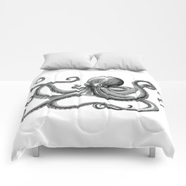 Octopus Black and White Comforters