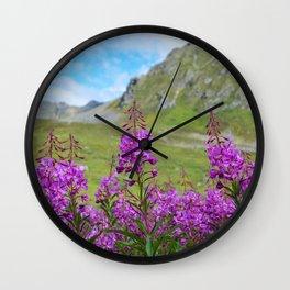 Hatcher_Pass Fireweed - Alaska Wall Clock