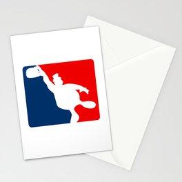 Funny Big Guy Sports Logo Stationery Cards