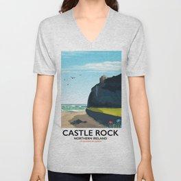 castle rock northern ireland Unisex V-Neck