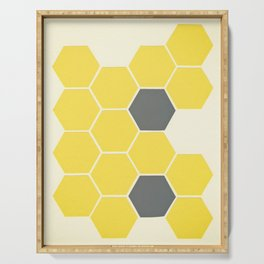 Yellow Honeycomb Serving Tray