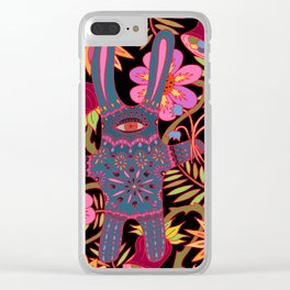 Rabbit in a Garden Clear iPhone Case