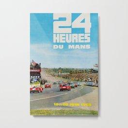 1965 Le Mans poster, Race poster, car poster, garage poster Metal Print