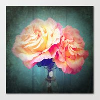 vintage flowers Canvas Prints featuring Vintage Flowers by 2sweet4words Designs
