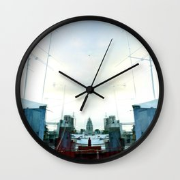Static captured or interpreted as precipitation. Wall Clock