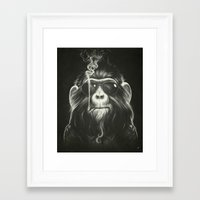 monkey Framed Art Prints featuring Smoke 'Em If You Got 'Em by Dr. Lukas Brezak
