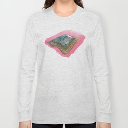 Pink Pompadour Long Sleeve T-shirt