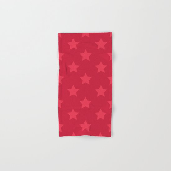 Red stars Hand & Bath Towel
