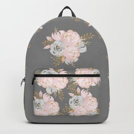 Night Rose Garden Gray Backpack
