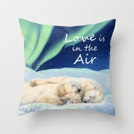 Under The Northern Lights Throw Pillow