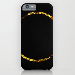 Golden Ring - Minimalistic, gold and black abstract art, metallic gold texture iPhone Case