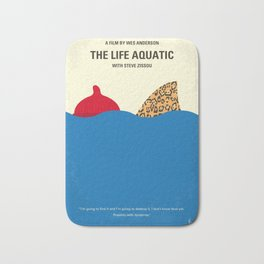 No774 My The Life Aquatic with Steve Zissou minimal movie poster Bath Mat