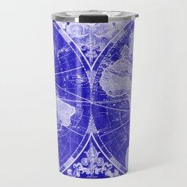 World Map (1691) Blue & White Travel Mug