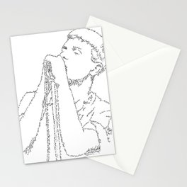 Ian Curtis WordsPortrait Stationery Cards