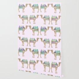 Boho Camel Tassel India Morocco Camel Watercolor Wallpaper