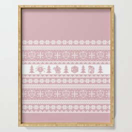 """Roll for Initiative Fair Isle in """"Frosting"""" Serving Tray"""