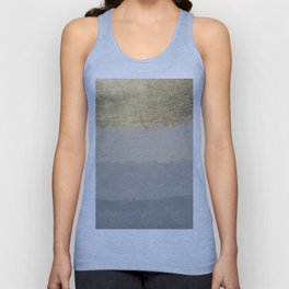 Geometrical ombre glacier gray gold watercolor Unisex Tank Top