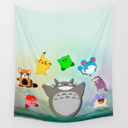 Video game Anime Character Rainbow Wall Tapestry