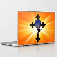 nightcrawler Laptop & iPad Skins featuring Chibi Nightcrawler by artwaste