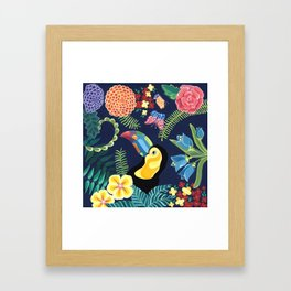 Natures Confetti Toucan Framed Art Print