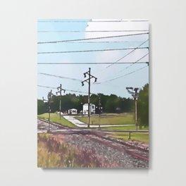 Jacksonville IL Rail Crossing 3 Metal Print