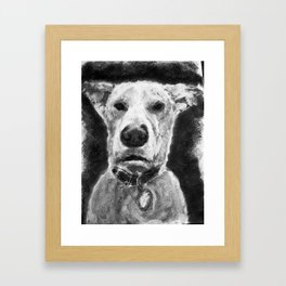 Temo - Charcoal Framed Art Print
