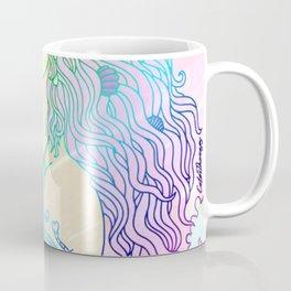 Pastel Waves Girl Coffee Mug