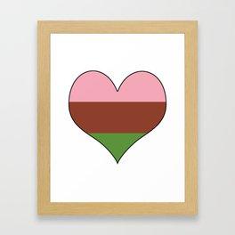 Gynesexual Heart Framed Art Print