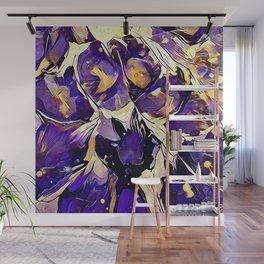 Purple Explosion Wall Mural