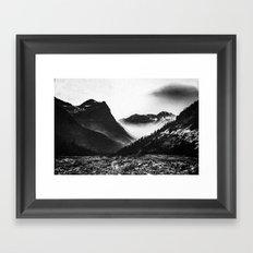 Mountain Valley Glacier National Park Framed Art Print