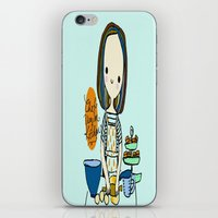 chef iPhone & iPod Skins featuring pastry chef by penpun