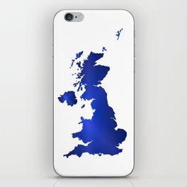 United Kingdom Map silhouette iPhone Skin