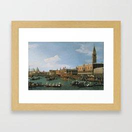 Canaletto Bernardo Bellotto  -  Return Of il Bucintoro On Ascension Day Framed Art Print