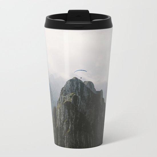 Flying Mountain Explorer - Landscape Photography Metal Travel Mug