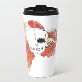 Split Image (Orange) Metal Travel Mug