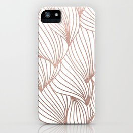 Rose gold petals iPhone Case