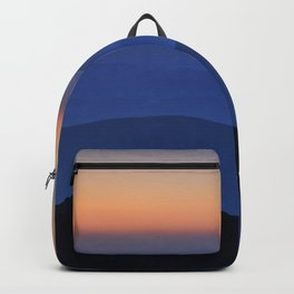 Sierra Nevada. Sunset at the mountains. Astronomical Observatory at 3000 meters Backpack