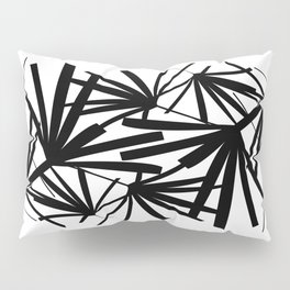 Graphic Palms Black and White Pattern Pillow Sham