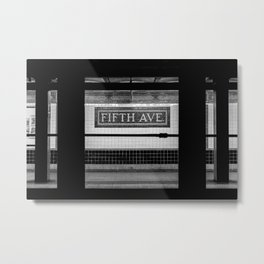 Fifth Ave Subway Metal Print