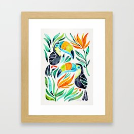 Tropical Toucans Framed Art Print
